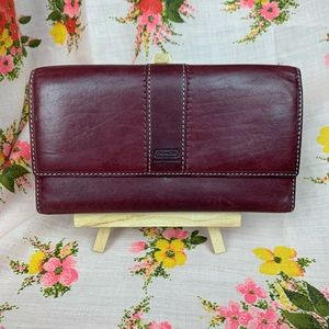 ✨Burgundy Wine Full Size Leather Wallet by COACH✨